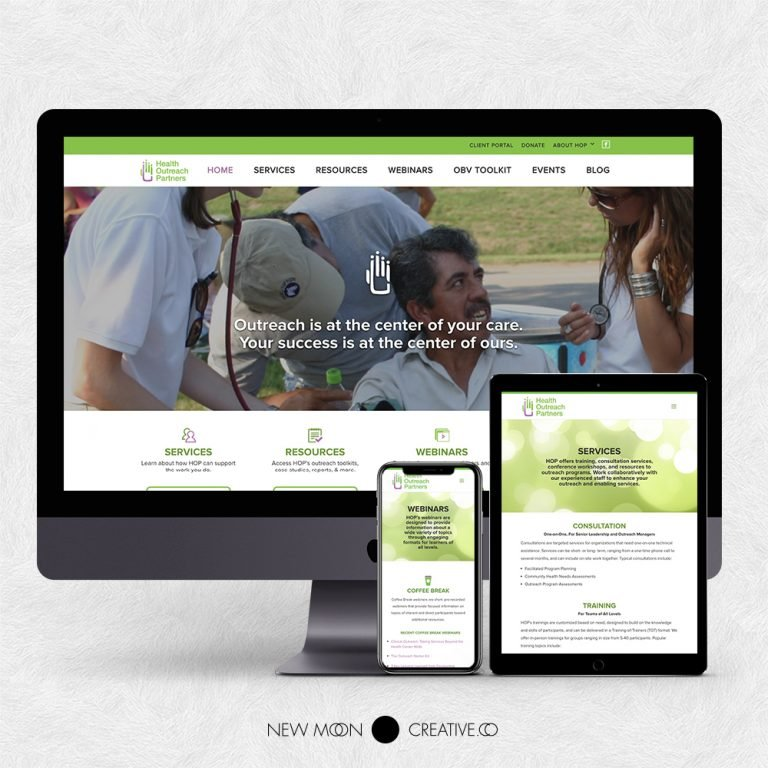 Health Outreach Partners Nonprofit Website