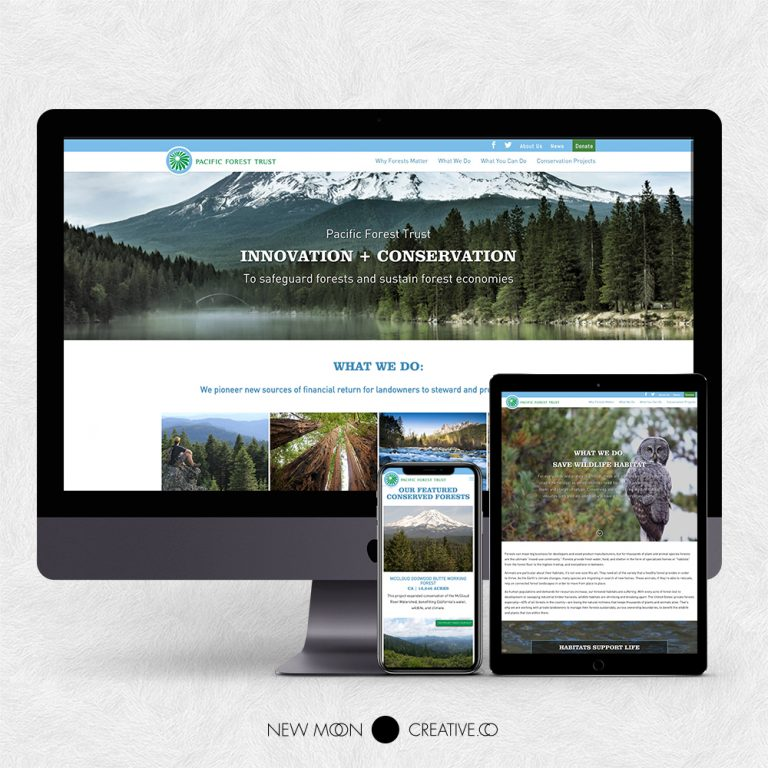 Nonprofit Website Design Pacific Forest Trust