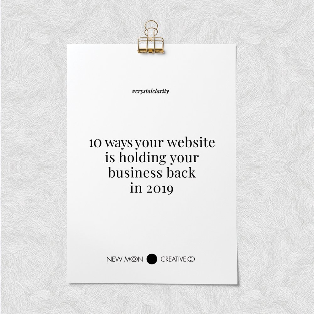 10 ways your website is holding your business back in 2019
