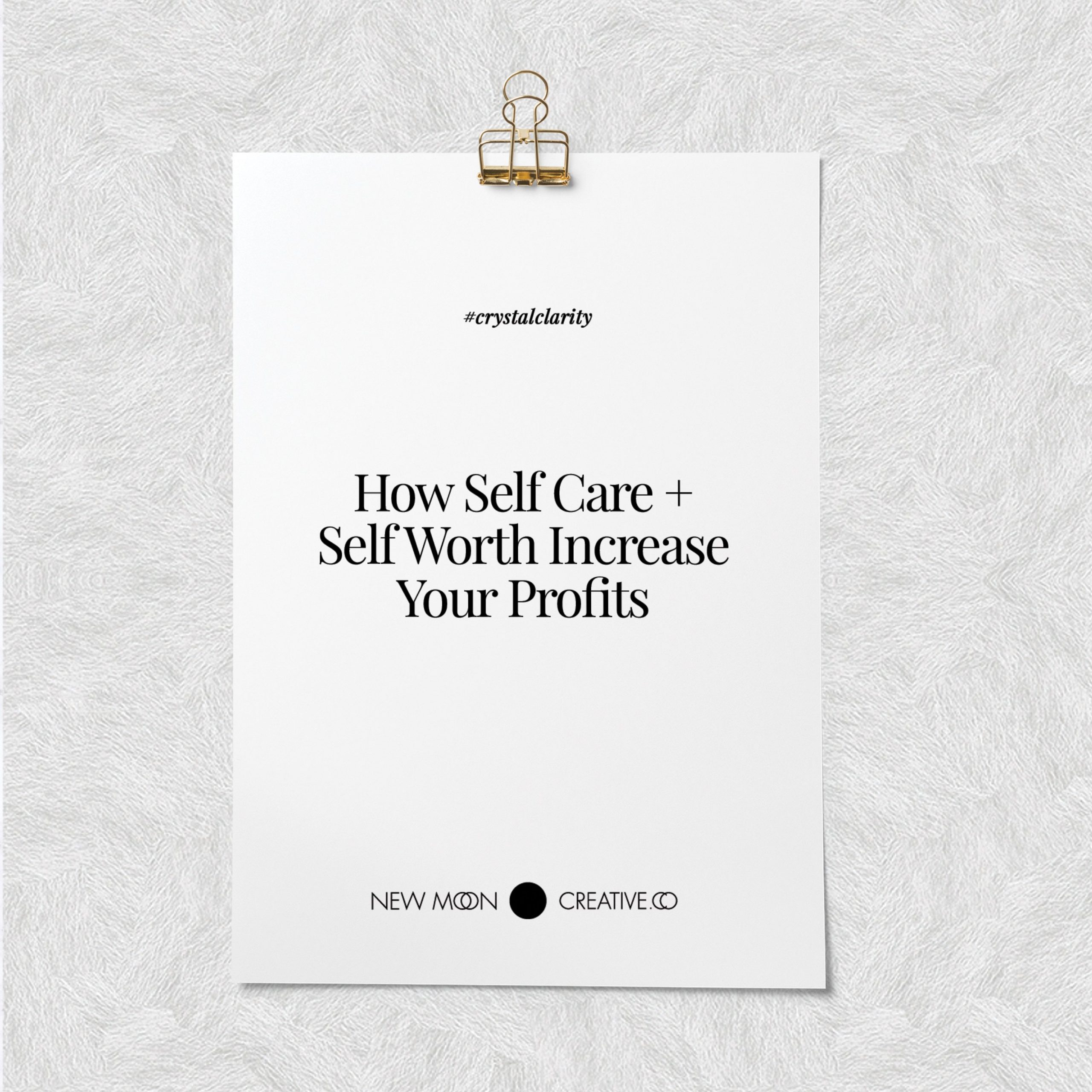 How Self Care + Self Worth Increase Your Profits