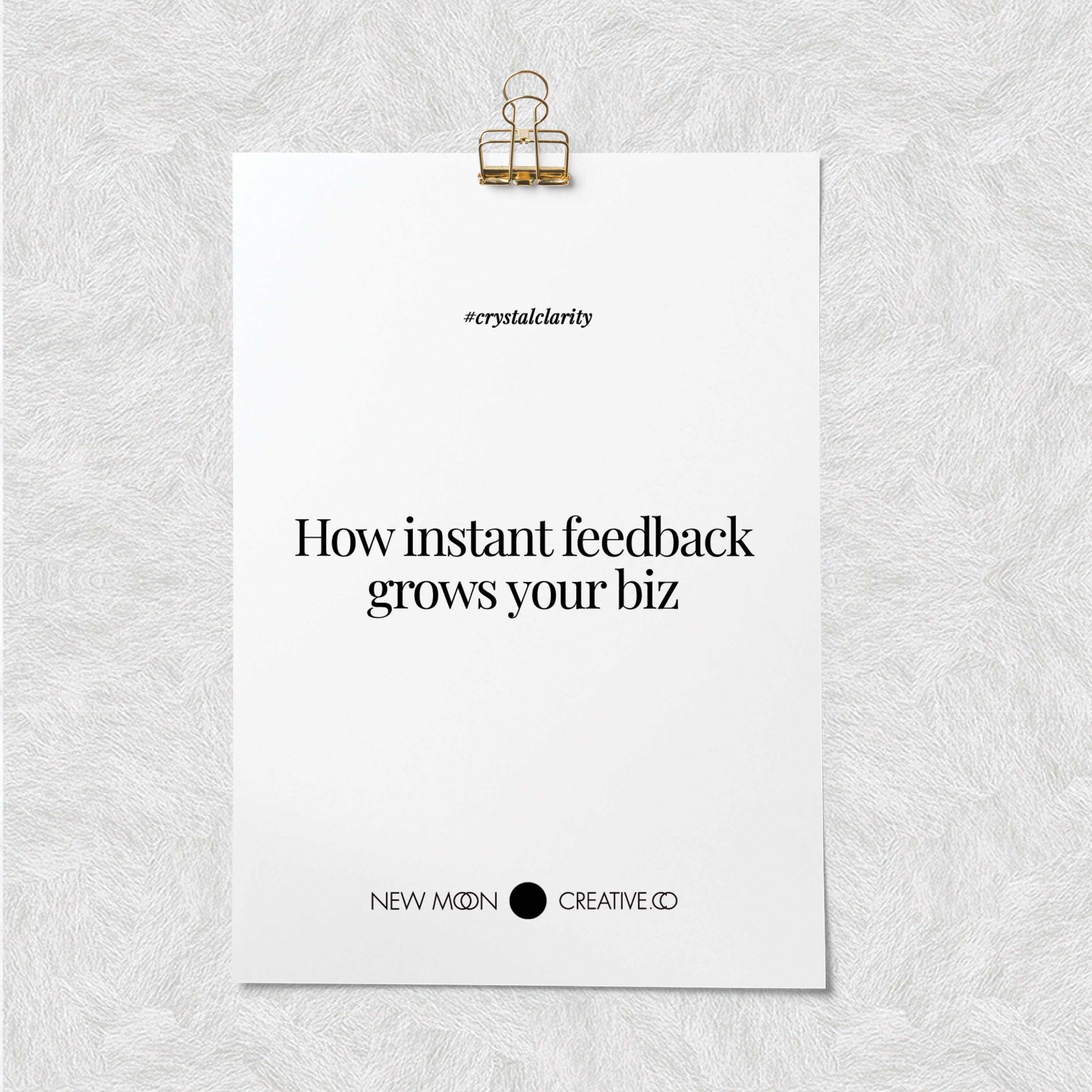 How instant feedback grows your biz 🌱