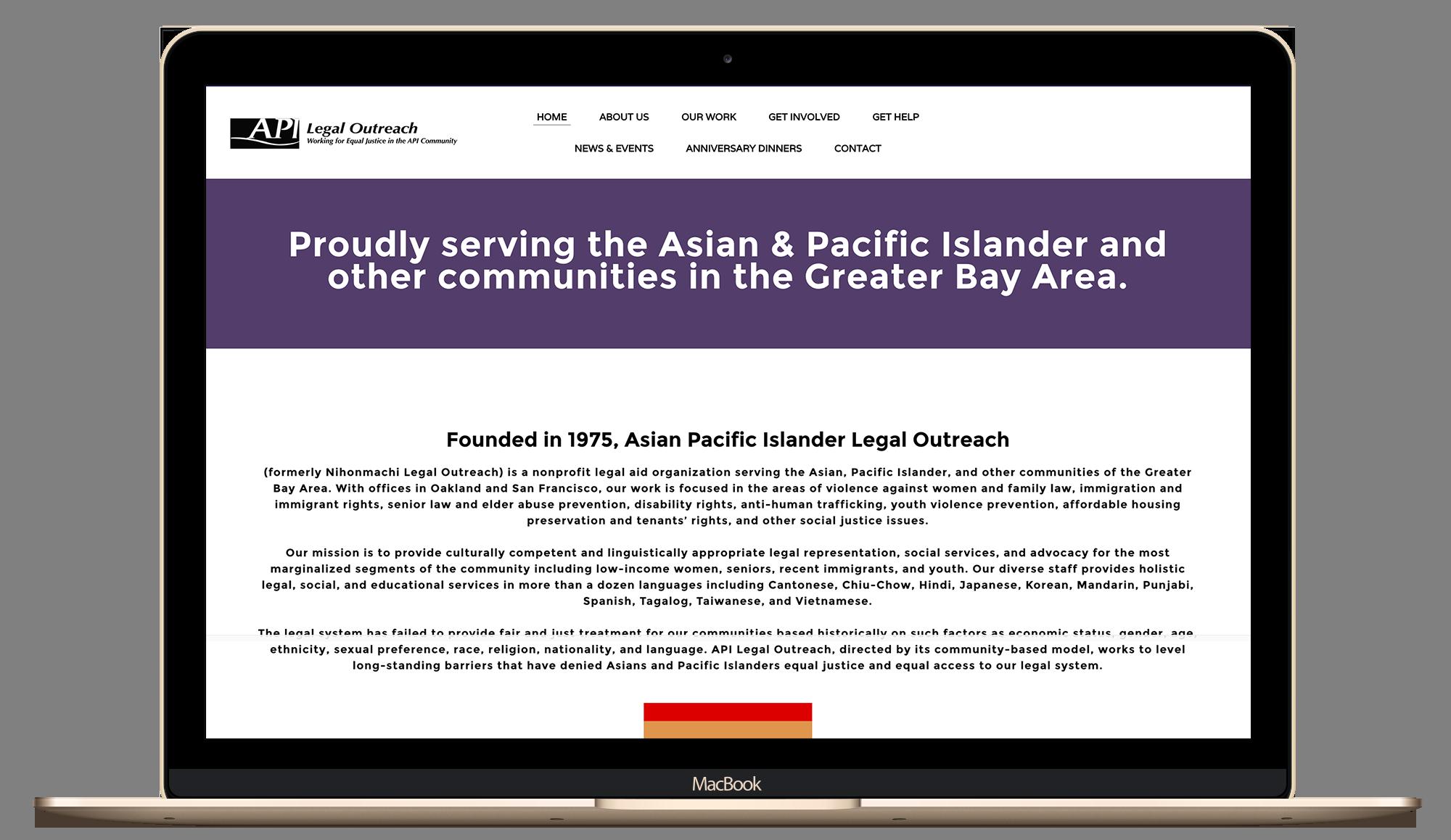 API Legal Outreach Before Screenshot