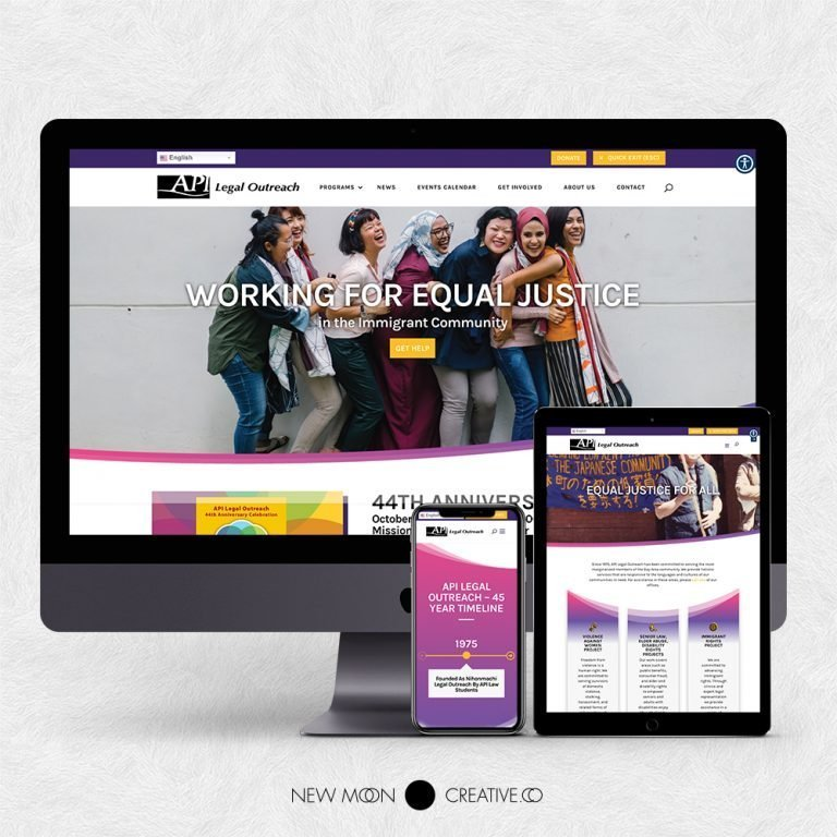 API Legal Outreach Nonprofit Website Design