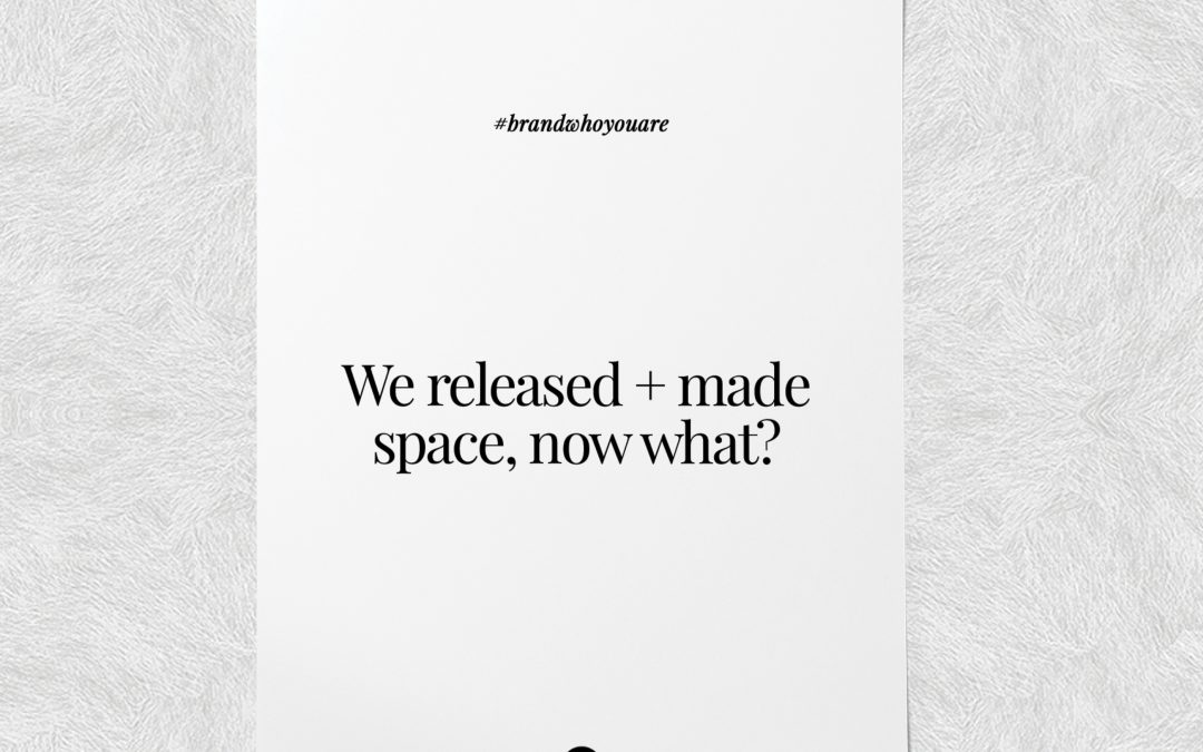 We released + made space, now what?