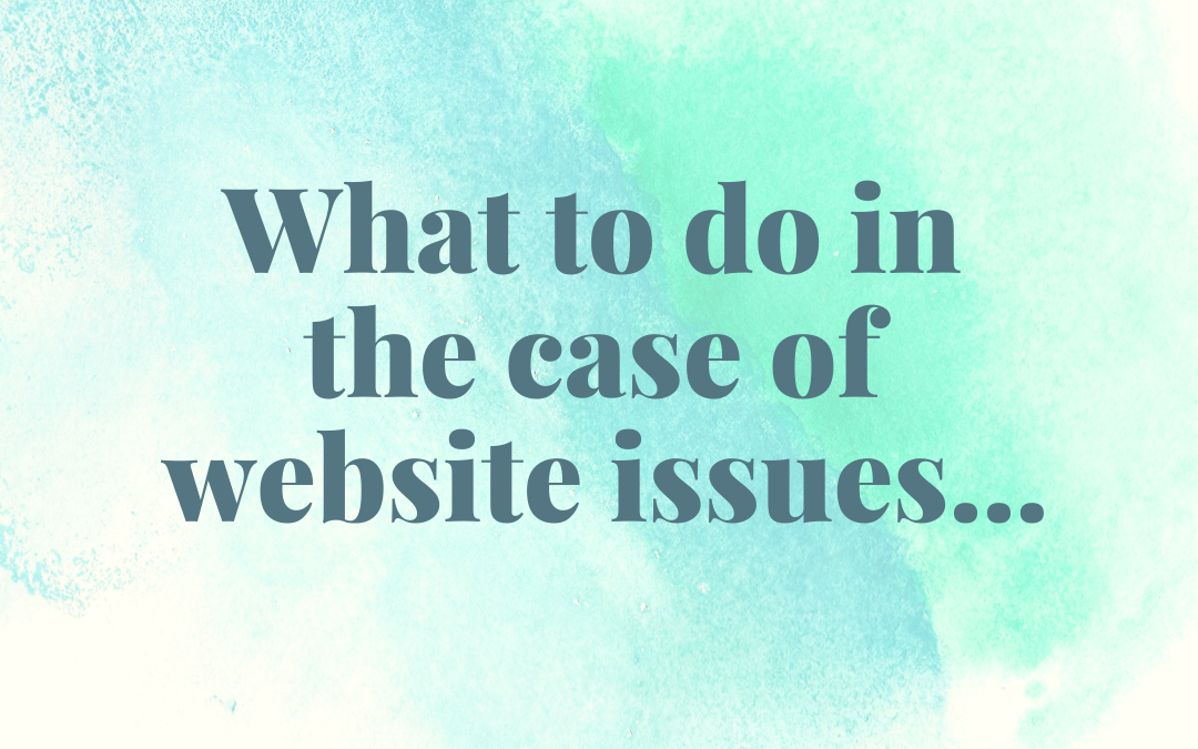 What to do in the case of…