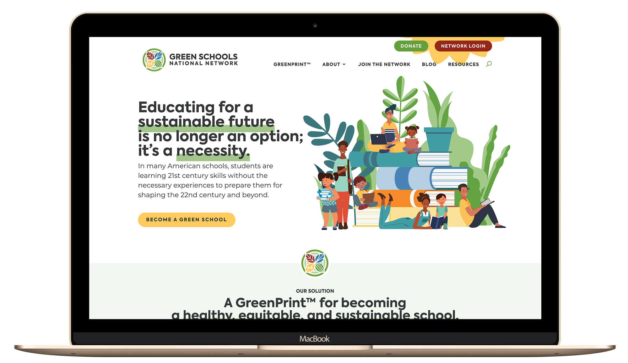 Green Schools National Network Website Screenshot